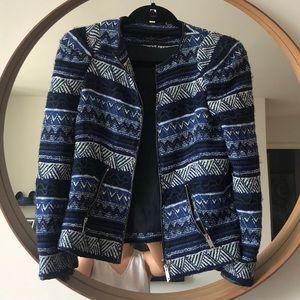 Zara Knitted Blue Sweater